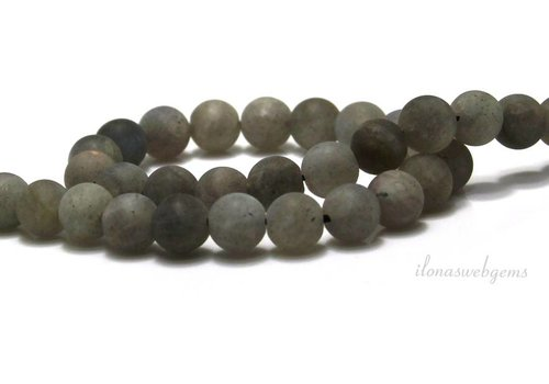 Labradorite beads round mat approx. 7mm