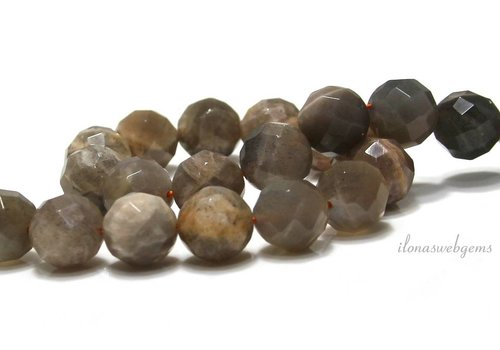 Mondstein Perlen facettiert um 12mm