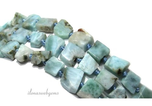 Larimar beads approx. 6x5x3mm