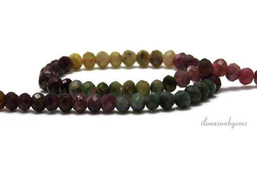 Tourmaline beads facet roundel around 5x4mm
