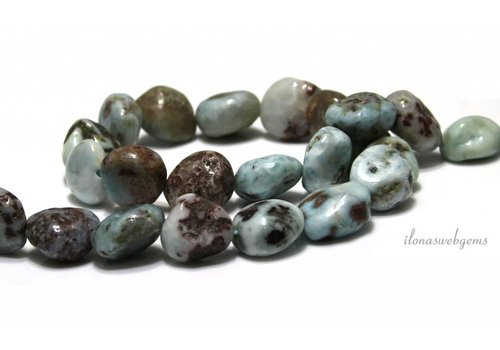 Larimar nuggets approx. 12x10mm