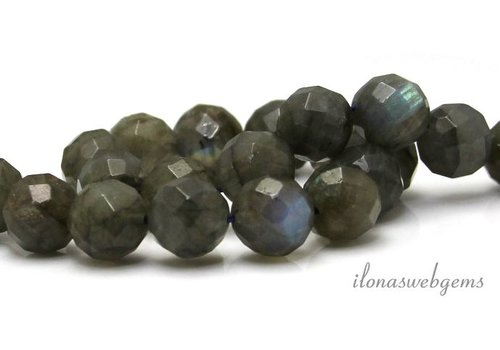 Labradorite beads around facet about 10mm