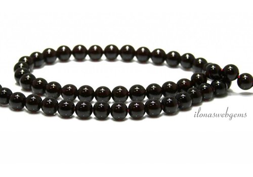 Garnet beads around AA quality about 8mm