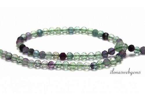 Fluorite beads facet around 5mm