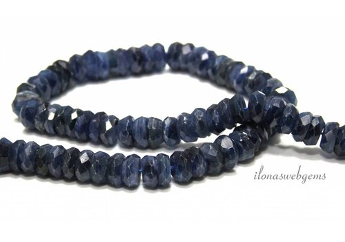 Kyanite beads faceted roundel around 10x5mm