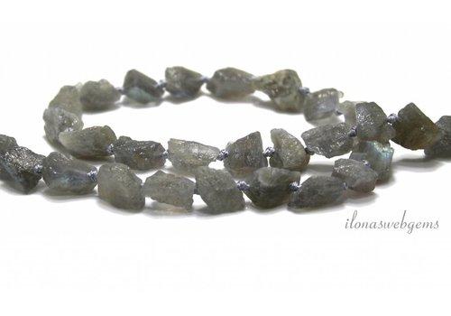 Labradorite beads rough approx. 10x7x6.5mm