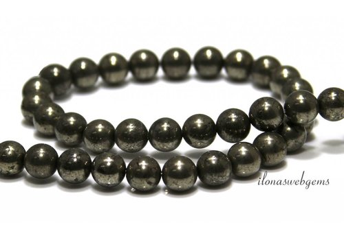 Pyrite beads around 8mm