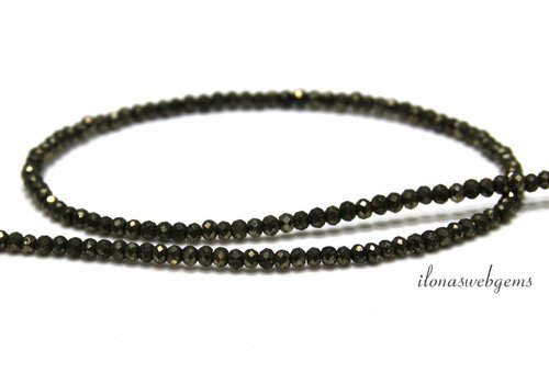 Pyrite beads facet roundel around 3x2mm