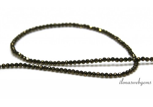 Pyrite beads facet around 2mm