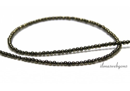 Pyrite beads around 2mm