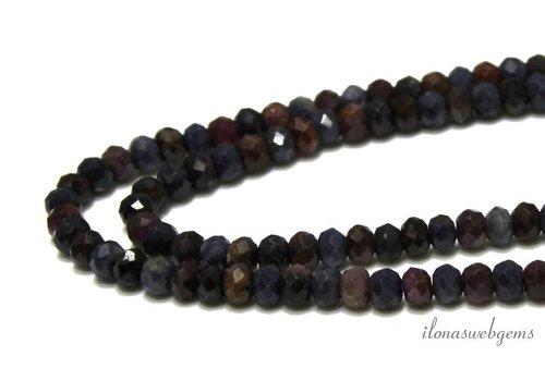 Saphir und Rubin Perlen mischen Facetten-Rondell 5x3.5mm