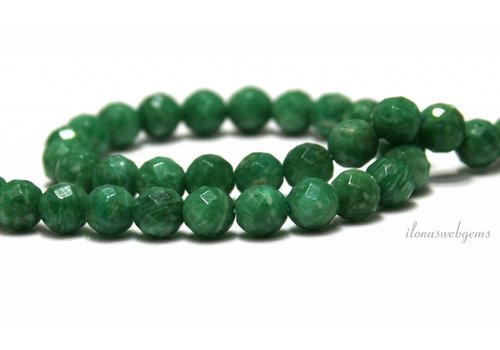 Russian Amazonite beads around facet about 8mm
