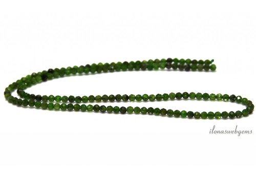 Diopside Perlen facettiert um 3mm