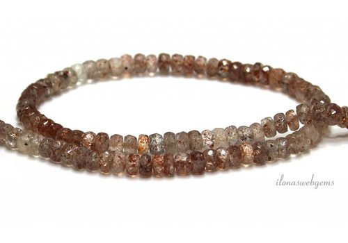 Sunstone beads facet roundel A quality approx. 5.5x3.5mm