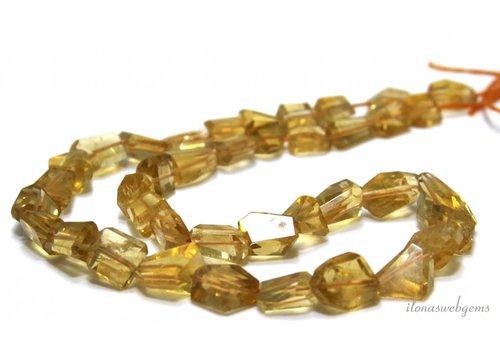 Citrin Perlen frei Form ca. auf und ab von ca. 12x9x7 bis 12x8x6mm