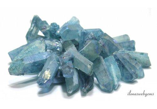 Bergkristall Obeliksen Electroplated rund 23-47mm