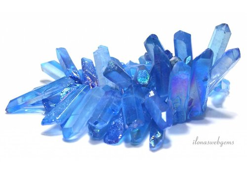Rock crystal Obelisk beads ascending and descending from ca. 20x9x6 to 44x7x6mm