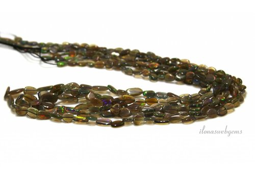Black Edelopaal beads approx. 8x4x2.5mm