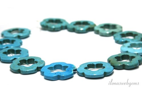 Howlite beads approx. 33x5mm