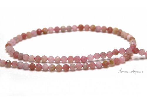 Roze Opaal kralen facet rond ca. 3.3mm