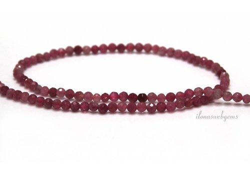 Rosa Turmalin Perlen Facette rund 3,3 mm
