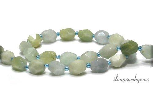 Aquamarine Perlen freie Form ca. 15x11x9mm