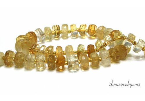 Citrine beads facet A quality approx. 10x5mm