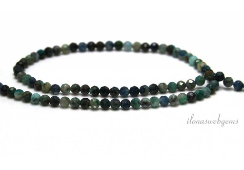 Chrysocolla beads facet around 4mm