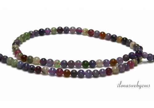Tanzania tourmaline mix beads around 4.5mm
