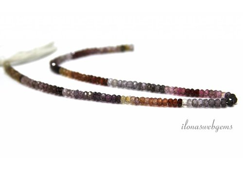 Spinel mix beads facet ca.4 x3mm