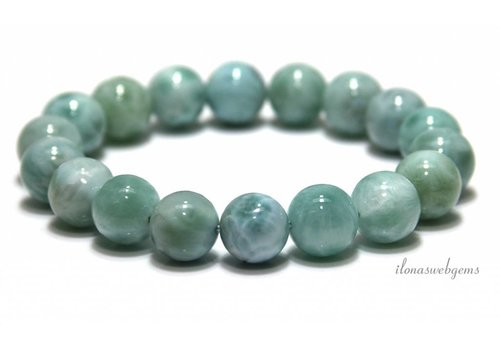 Larimar beads bracelet A quality approx. 10.6mm