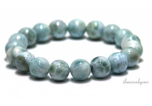 Larimar Perlen Armband Eine Qualität um 11mm
