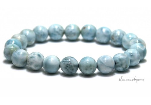 Larimar beads bracelet A quality approx. 9mm