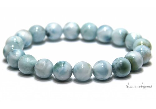 Larimar beads bracelet A quality about 10mm
