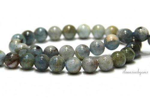 Aquamarine beads around 10.5mm
