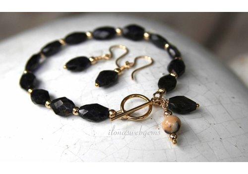 Inspiration: Armband mit facettierten Perlen