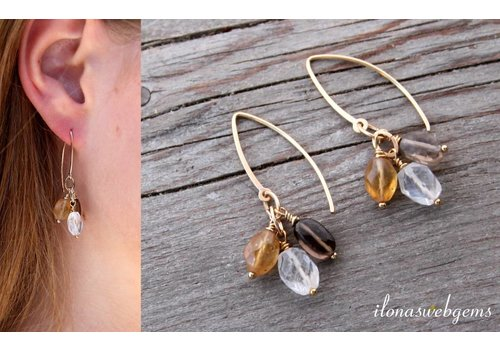 Inspiration: Ohrring mit facettierten Perlen