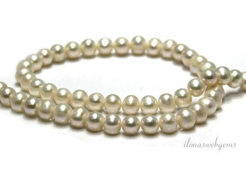 Freshwater pearls approx. 8x7mm