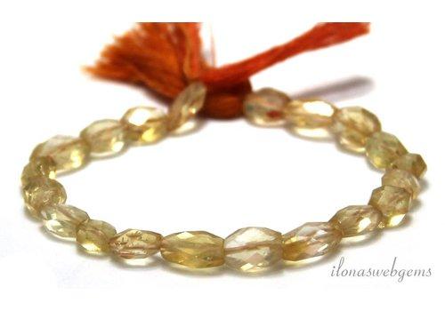 Citrin Perlen Facette etwa 7x5mm