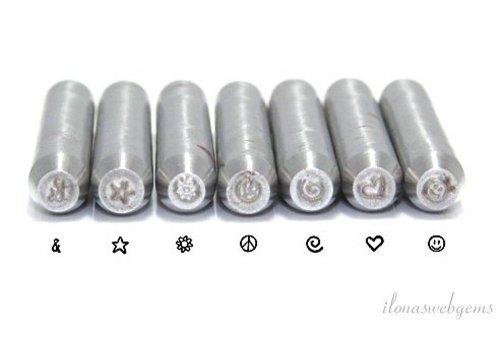 Slagstempel 'Hartje' ca. 3mm