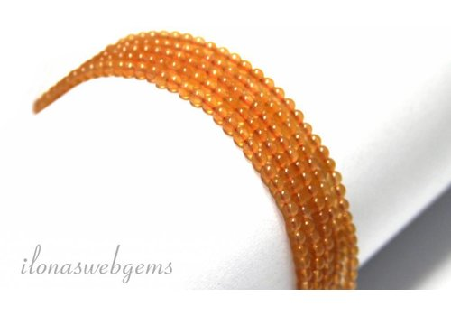 Oranje Aventurijn kralen mini ca. 2.4mm