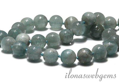 Aquamarine beads round app. 12mm