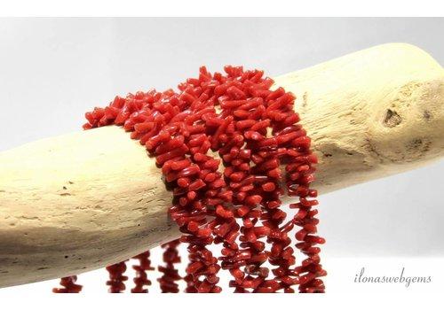 Coral beads '' Corallium Rubrum '' ca. 8x2 - 4x2mm