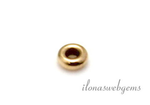 14 carat gold roundel approx. 2.7x1mm
