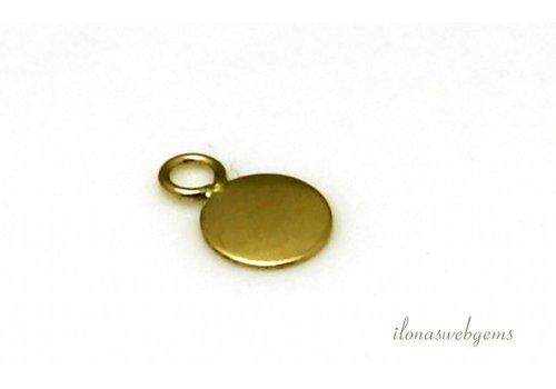 Gold gefülltes Etikett ca. 5mm