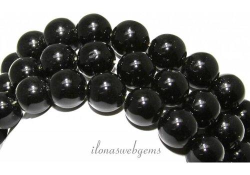 Obsidiaan kralen rond ca. 14mm