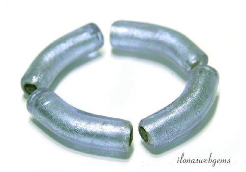 4 stücke Murano glas Hohle Perlen ca. 34x9mm