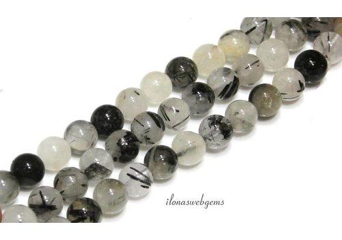 Rutilated quartz beads about 8mm