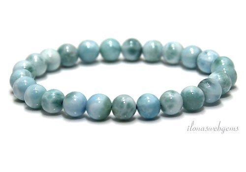Larimar beads bracelet A quality approx. 5.3mm