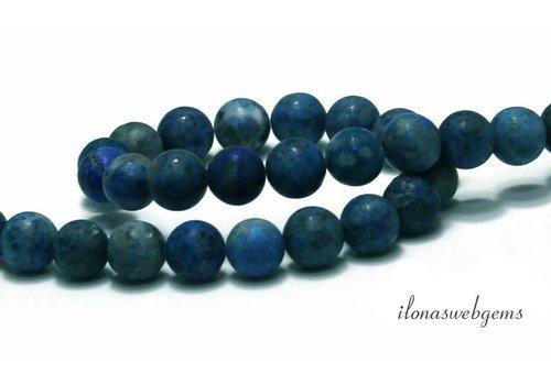 Lapis Lazuli beads round mat approx. 8.5mm